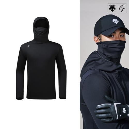 [데상트골프] [19FW]남성 마스크 넥 변형 후드 긴팔 티셔츠 (D942MPTLO3)