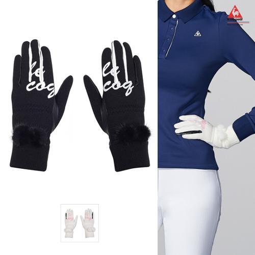 [르꼬끄골프] [19FW 신상]여성 방한 퍼 트리밍 양손 장갑 (G9422LGLO1)