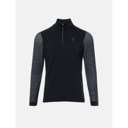 [빈폴골프] [NDL라인] 남성 블랙 하이브리드 티셔츠 (BJ9941M495)