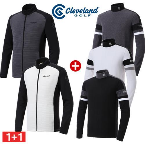 [클리브랜드골프] 남성 써모그램 바람막이 자켓 + 컬러블럭 기모 긴팔티셔츠_CG651604