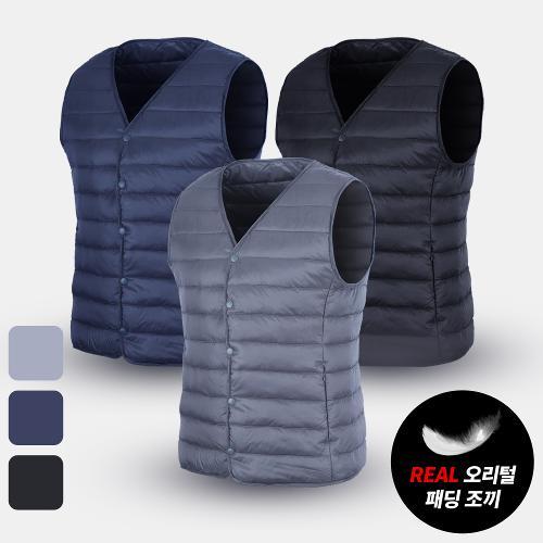 [KRSPORTS] 리얼100% 초경량 방수 오리털 패딩조끼