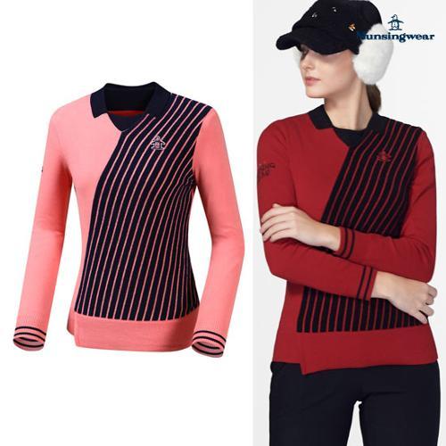 [먼싱웨어] [19FW 신상]여성 비대칭 방풍탈부착 스웨터 (M9422LSWO9)