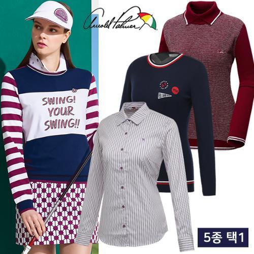 [아놀드파마] FW 데일리 여성 긴팔 니트/티셔츠 균일가 5종 택1/골프웨어_ALW7SL04