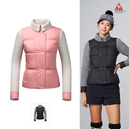 [르꼬끄골프] [19FW]여성 방풍 구스다운 스웨터 가디건 (G9422LKCN2)