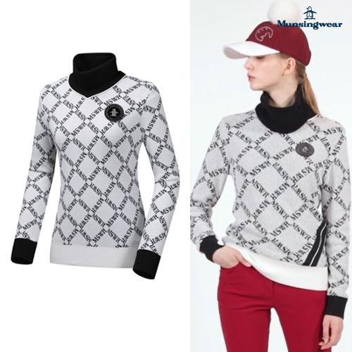 [먼싱웨어] [19FW 신상]여성 넥워머탈착 스웨터 (M9422LSWN1)