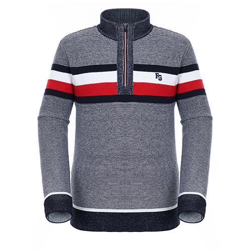 [팬텀]남성 방풍 스트라이프 반집업 스웨터 21184SN114_NA