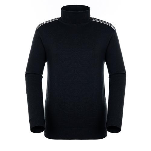 [팬텀]남성 스트라이프 배색 터틀넥 스웨터 21184SN118_BK