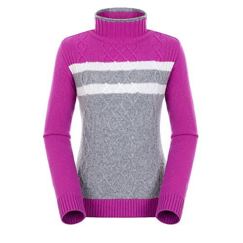 [팬텀]여성 컬러블럭 케이블 방풍 스웨터 22184SN164_VO