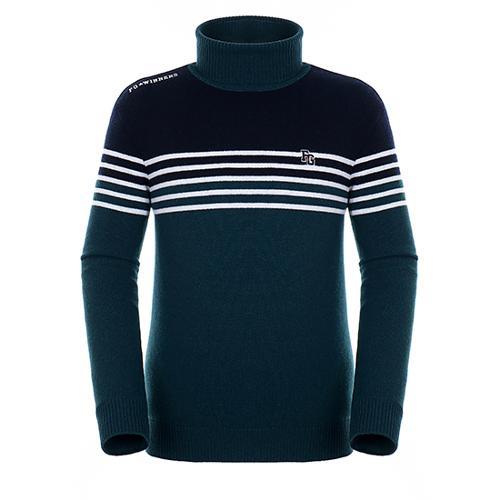 [팬텀]남성 컬러 블록 방풍 울 스웨터 21184SR111_GN