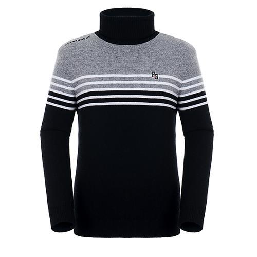 [팬텀]남성 컬러 블록 방풍 울 스웨터 21184SR111_BK