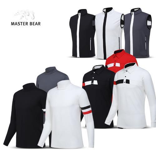 마스터베어 웜업 국내생산 기모 긴팔티셔츠/조끼 4종 1택