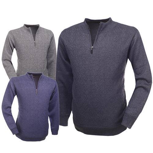[듀젝] 요즘 날씨에 입기 좋은 베이직 남성 하프집업 니트티셔츠 특가