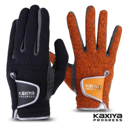 [카시야] 니트소재 방한 겨울용 양손 골프장갑