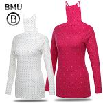 [BMU 골프웨어] 폴리스판 배색 도트 여성 귀달이 이너웨어/골프웨어_247905