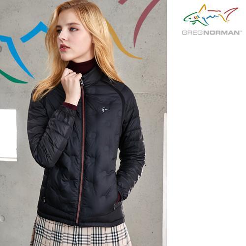 [그렉노먼] 경량 구스다운 튜브 스윙 여성 풀집업 패딩 자켓(블랙)/골프웨어_247990