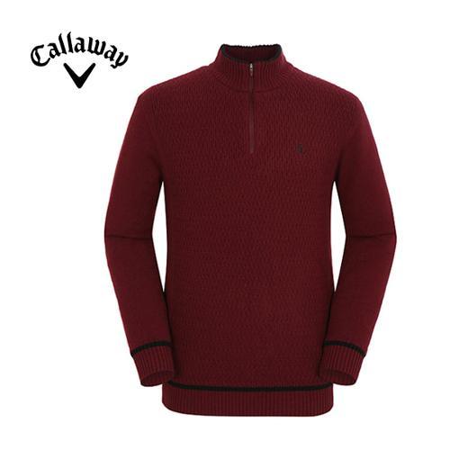[캘러웨이]남성 짜임 반집업 스웨터 CMSHF4272-415