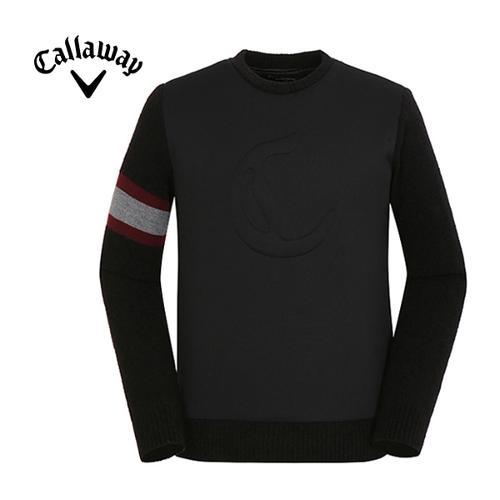 [캘러웨이]남성 소매 배색 스티치 스웨터 CMSHF4271-199