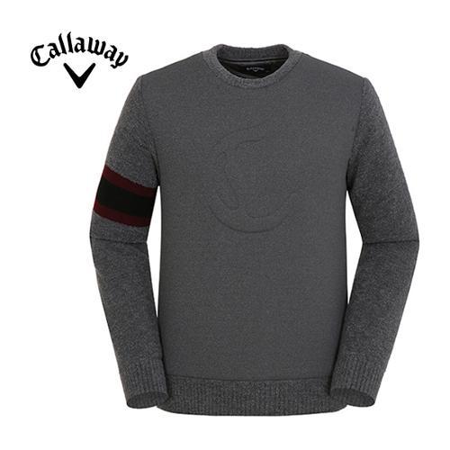 [캘러웨이]남성 소매 배색 스티치 스웨터 CMSHF4271-193