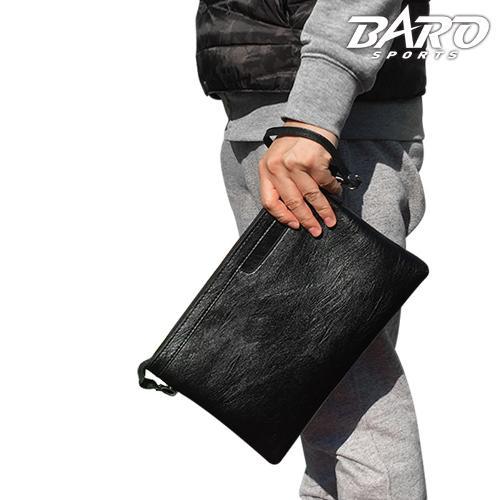 [바로스포츠] 스퀘어 클러치백 골프 가죽파우치백 남녀공용 골프공주머니 필드용품수납 라운딩필수품