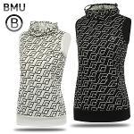 [BMU 골프웨어] 폴리스판 3D 사각패턴 여성 귀달이 민소매티셔츠/골프웨어_248126