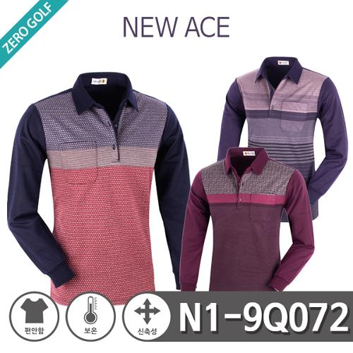 [NEW ACE] 뉴에이스 잔패턴 PK 면 기모 카라티셔츠 Model No_N1-9Q072