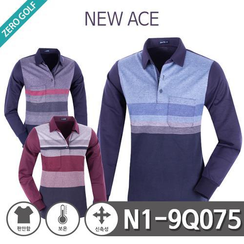 [NEW ACE] 뉴에이스 일자 배색 면 기모 카라티셔츠 Model No_N1-9Q075