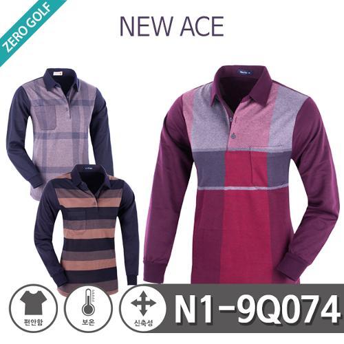 [NEW ACE] 뉴에이스 남성 패턴 면 기모 카라티셔츠Model No_N1-9Q074