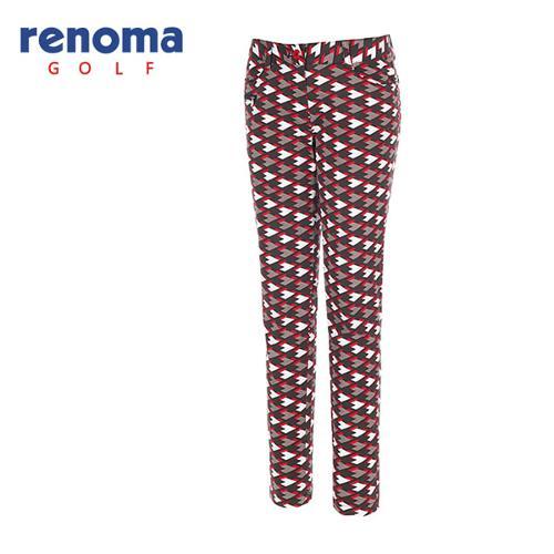 [레노마골프]여성 옵티컬 프린트 코튼 팬츠 RAPT56541-RD