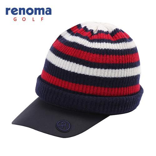 [레노마골프]여성 스트라이프 비니 세트 썬캡 모자 RMACF4802-120