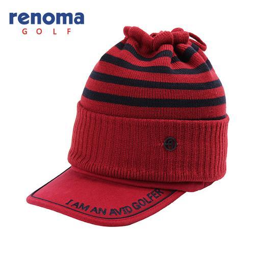 [레노마골프]여성 배색 스트라이프 넥워머 세트 자수 썬캡 모자 RWACF8803-500