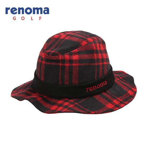 [레노마골프]여성 모혼방 체크 챙 모자 RWACF7810-500