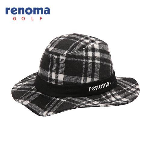 [레노마골프]여성 모혼방 체크 챙 모자 RWACF7810-199