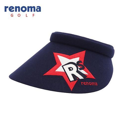 [레노마골프]여성 로고 자수 포인트 썬캡 모자 RWACF7802-120
