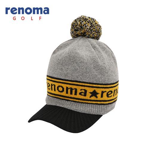 [레노마골프]여성 로고 배색 방울 니트 챙 모자 RWACF8809-193
