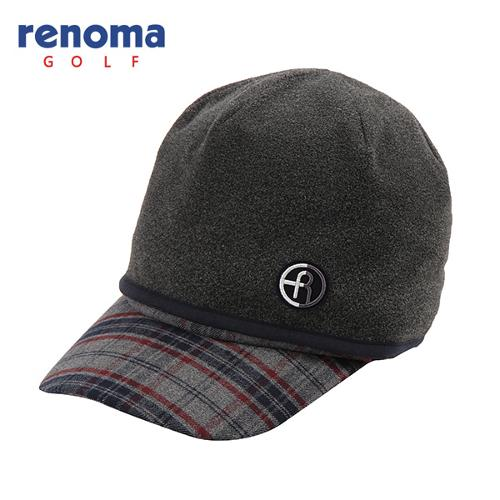 [레노마골프]남성 비니 세트 체크 로고 자수 썬캡 모자 RMACF4803-120
