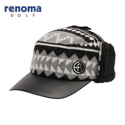 [레노마골프]남성 모혼방 패턴 포인트 귀달이 모자 RMACF4807-199