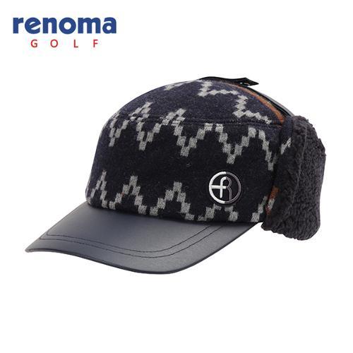 [레노마골프]남성 모혼방 패턴 포인트 귀달이 모자 RMACF4807-120