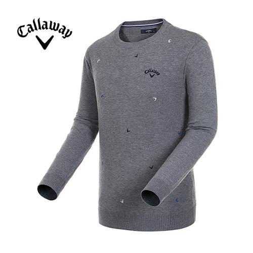 [캘러웨이]19F/W 남성 자수 로고 라운드넥 스웨터_CMSRH3205-193_Y