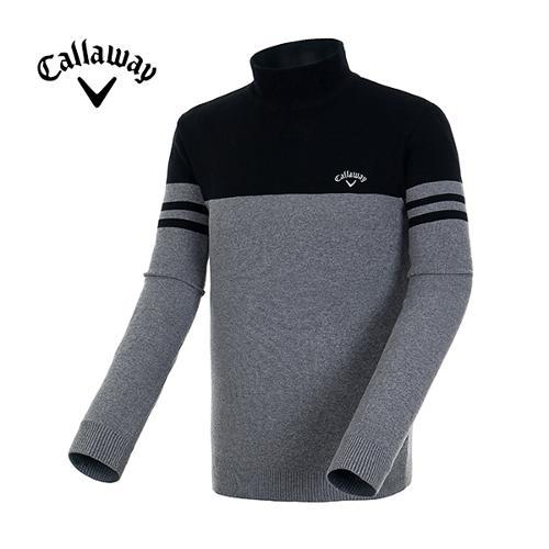 [캘러웨이]19FW 남성 컬러 블럭 모크넥 스웨터 CMSHH3252-199_Y