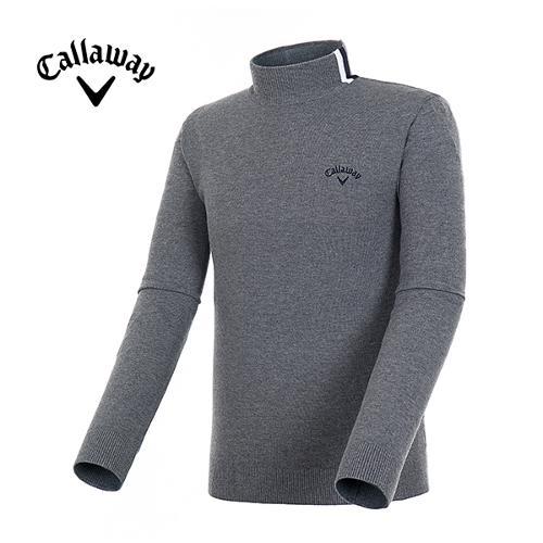 [캘러웨이]19FW 남성 스프라이프 솔리드 스웨터 CMSHH3202-193_Y