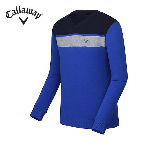 [캘러웨이]남성 블록 브이넥 티셔츠 CMSRF3202-906