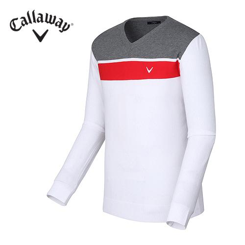 [캘러웨이]남성 블록 브이넥 티셔츠 CMSRF3202-100