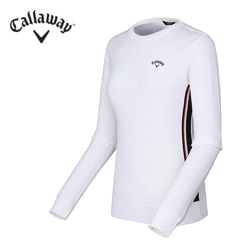 [캘러웨이]여성 베이직 라운드 스웨터 CWSRF7201-100