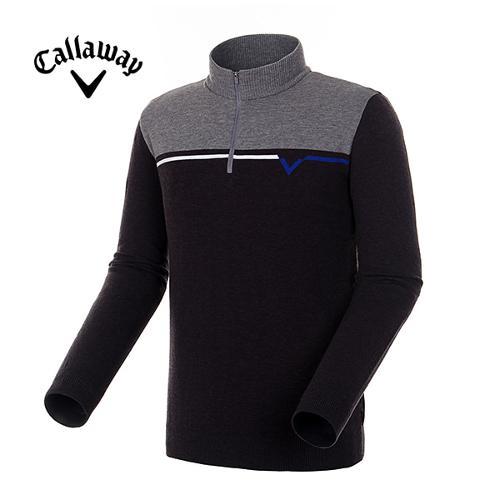 [캘러웨이]19FW 남성 컬러 로고 반집업 스웨터 CMSHH3251-193_Y