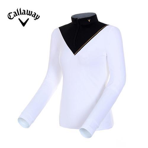 [캘러웨이]19FW 여성 콘트라스트 컬러 블록 티셔츠 CWTHH7155-100_Y