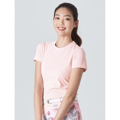 [빈폴골프] [NDL라인] 여성 라이트 핑크 원포인트 티셔츠 (BJ0Z42OL3Y)