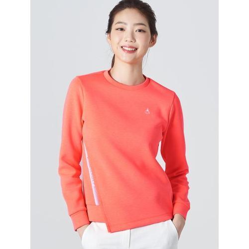 [빈폴골프] 여성 오렌지 언밸런스 스웨트 셔츠 (BJ0Z41A038)