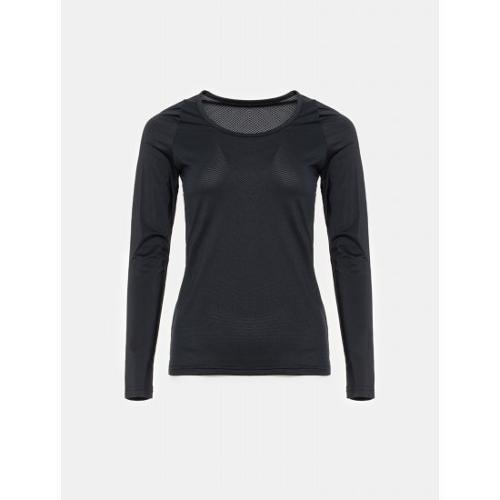 [빈폴골프] [NDL라인] 여성 블랙 쿨스킨 냉감 라운드넥 티셔츠 (BJ0241L415)