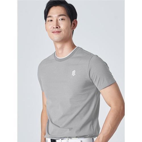 [빈폴골프] [NDL라인] 남성 라이트 그레이 원포인트 티셔츠 (BJ0Z42OM32)