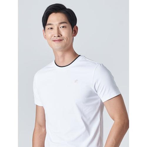 [빈폴골프] [NDL라인] 남성 화이트 원포인트 티셔츠 (BJ0Z42OM31)